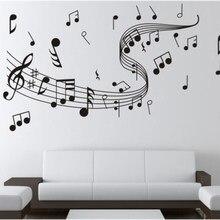 Notas da música arte adesivos de parede notas música lepu decalques melodia papel de parede casa sala estar decoração do escritório suprimentos