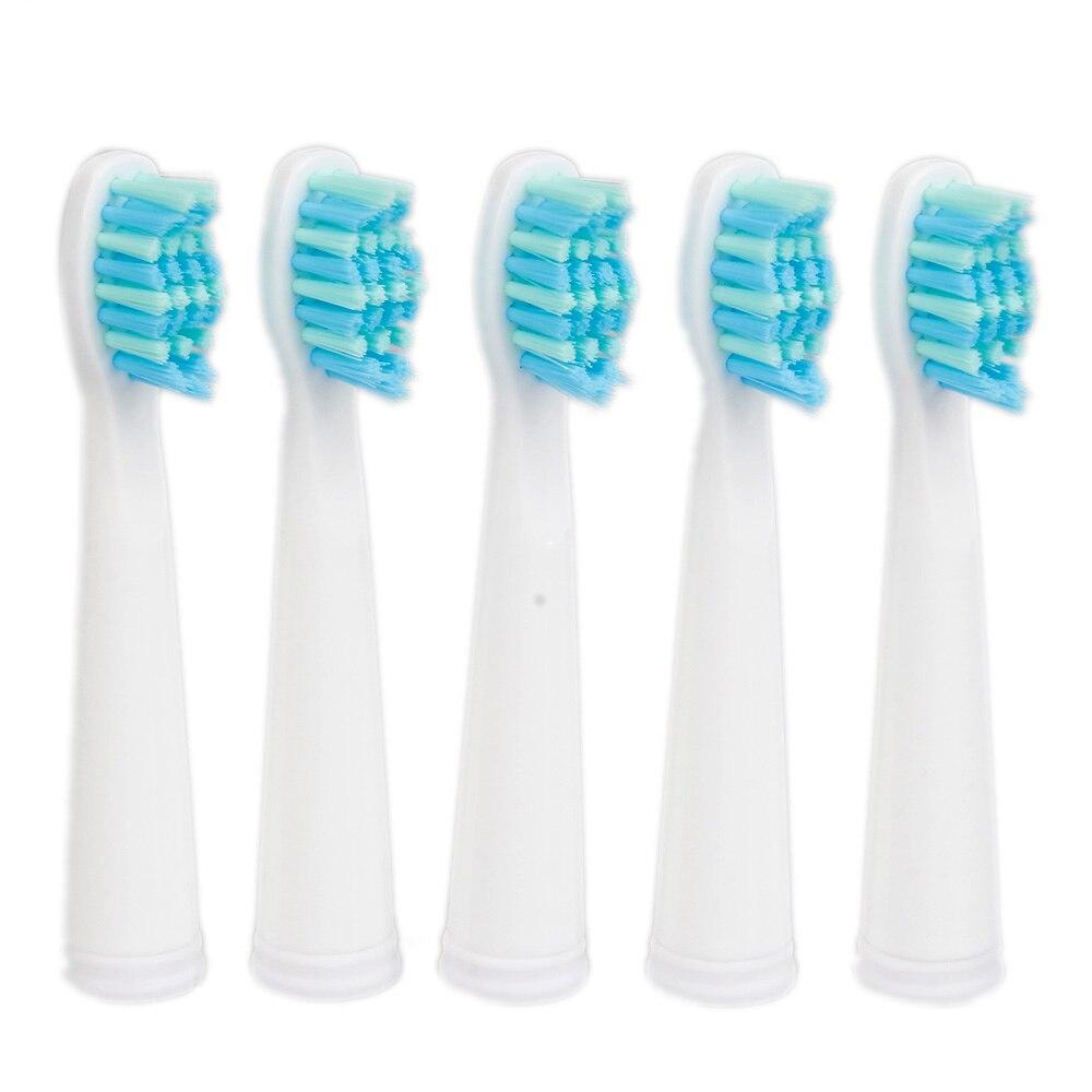 Seago brosse à dents tête pour SG-610/908/917/910/507/515/949/958 brosse à dents électrique remplacement brosse à dents tête 5 pièces/ensemble