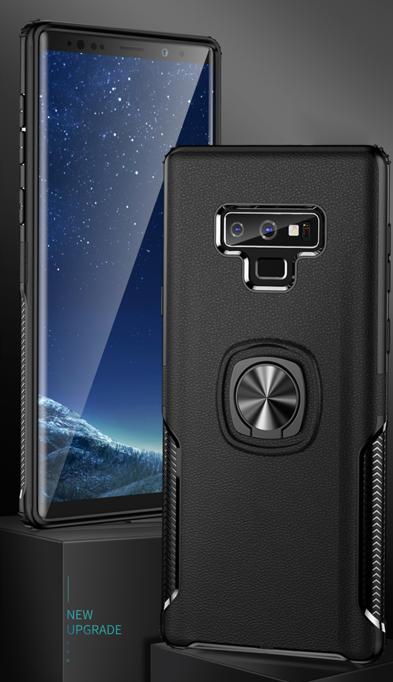 Phone <font><b>Case</b></font> with Magnetic Finger Ring for <font><b>Samsung</b></font> Galaxy <font><b>Note8</b></font> Note9 Note10 Note10Plus Soft TPU Shockproof Back Cover Coque image