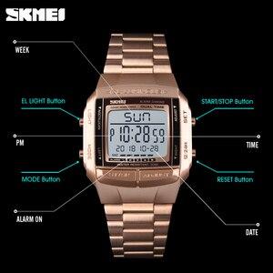 Image 4 - メンズ腕時計skmeiスポーツミリタリーledデジタル時計トップブランドの高級電子防水男性腕時計レロジオmasculino
