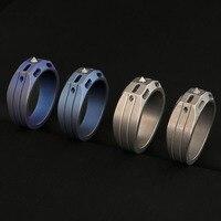 Titanium alloy tactical defensive ring tritium tube luminous ring EDC refers to tungsten steel window breaking defense