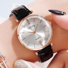 2019 Watches for Women Gogoey Luxury Diamond Women Watches Minimalist Style Leather Casual Ladies Quartz Watch relogio feminino gogoey relogios feminino ys2073 1982