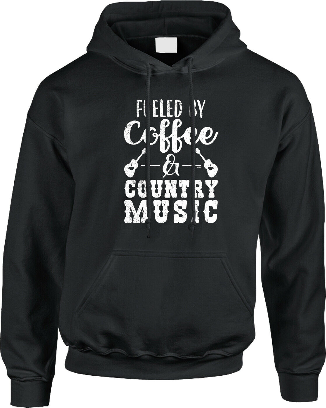 Fueled by Coffee and Country Music Songs Lyrics Radio Sleepy Singing Mens Hoodie men long sleeve gym jogger winter summer coat image