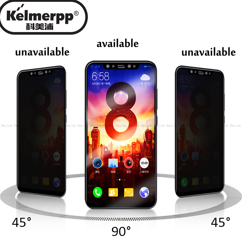 Anti-Spy Tempered Glass For Xiaomi Redmi 7 K20 Note 7 Pro Mi 9 SE 9T Pro A3 A2 Mi8 Lite CC9E Mix3 Privacy Screen Protector Glass