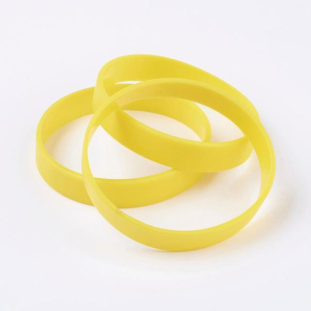 50pc Blank Silicone Wristbands Bracelets Bangle Flexible Wrist Band Adult Fashion Party Sports Team Kid Play Jewelry Accessories