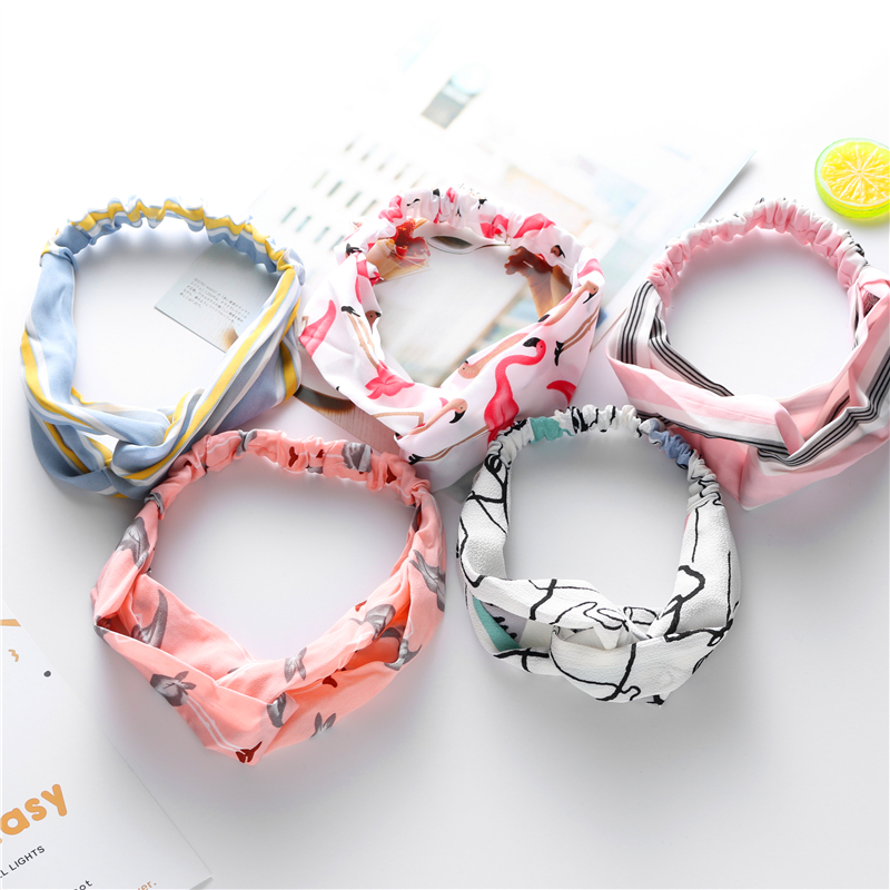 Flannel Fillet Headbands Soft Crossed Elastic Hair Band Hairlace for Washing Face Shower Spa Makeup Tools Wide Bandeau For Women