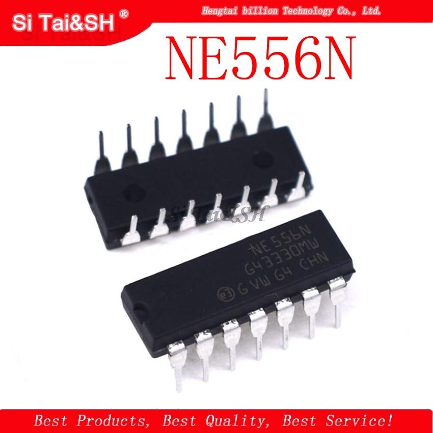 10pcs/lot NE556N DIP14 NE556 DIP