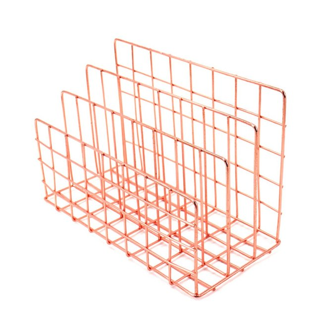 3 Layers Iron Book Magazine Document Storage Shelf Stand Dormitory Office Supply Iron Storage Durable Rack
