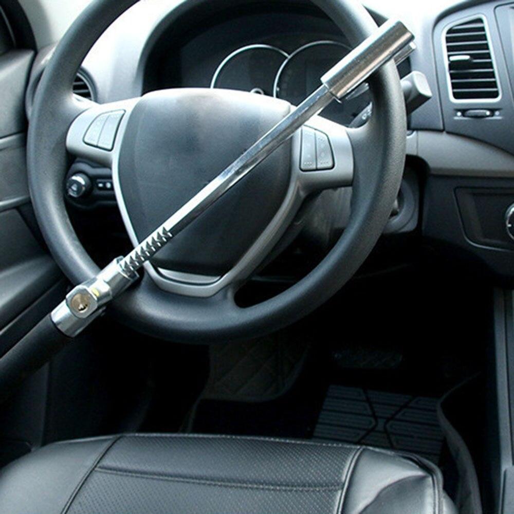 Автомобильный Замок рулевого колеса Регулируемая тележка для машины блокировка рулевого колеса Противоугонный замок безопасности инстру