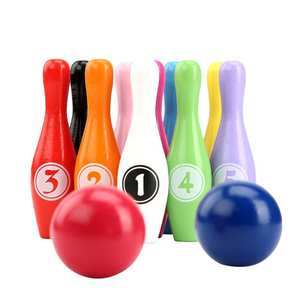 Educational-Toys Bowling-Game Wooden-Color Indoor Digital Fast-Delivery And Sports Children's