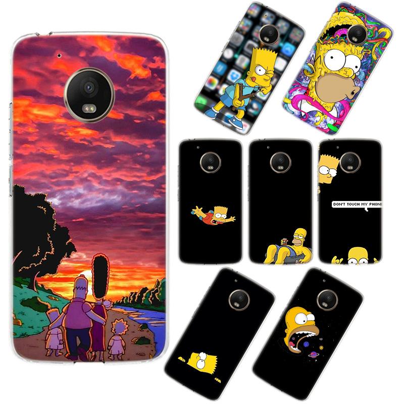 Moto G5 Phone Case Homer J.Simpson Moto G6 Phone Cover For Motorola Moto G5 G6 G5s E5 G7 Z3 Play Plus Back Silicone