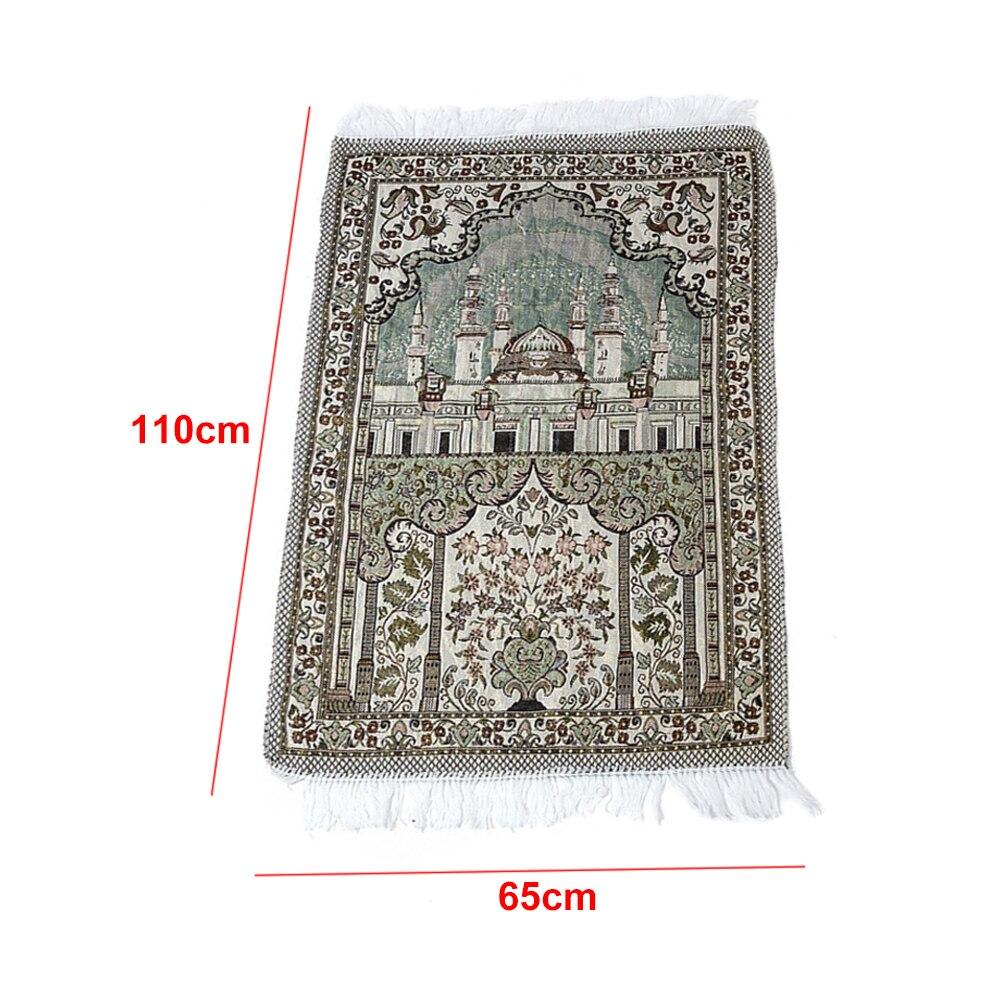 Image 4 - Worship Mats With Tassel Rug Prayer Blanket Ethnic Style Carpet  Living Room Floor 65 X 110 Cm Soft Decoration Rectangle MuslimRug   -