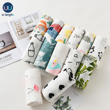 Baby Blankets 2 Layers Newborn Baby Bath 100% Muslin Cotton Swaddle One Piece 0-24M Fruit Printing Baby Wrap Stroller Cover