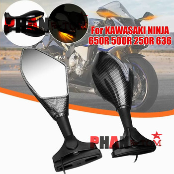 Motorcycle Front Back LED Turn Signal Integrated Mirrors for HONDA CBR 600RR 1000RR F3 F4 Yamaha FZ1 FAZER Suzuki SV650 image