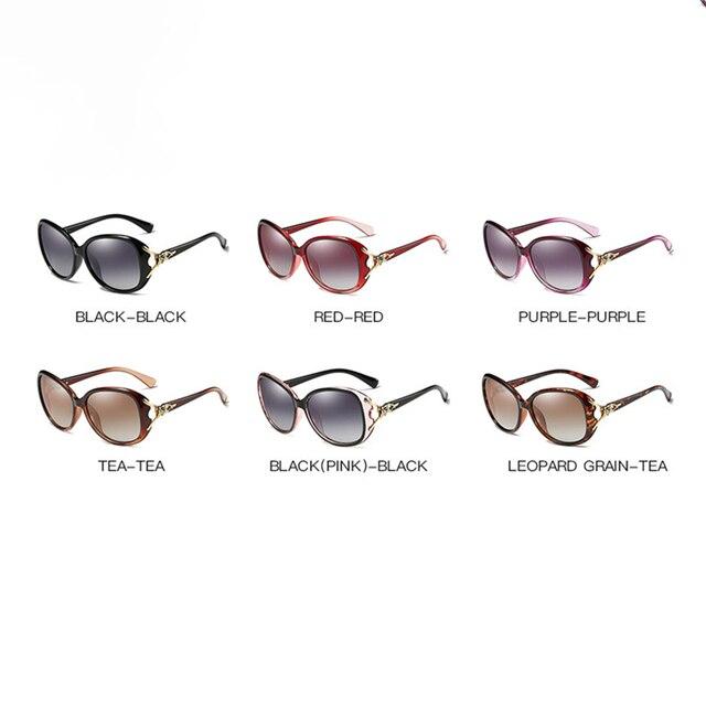 2020 Classic Womens Oversized Sunglasses Brand Designer Polarized Sunglasses Ladies Rhinestone Temple Shades Eyewear 4