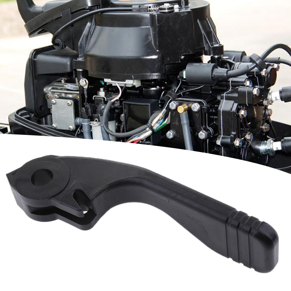 Outdoor 2 Stroke Marine Gear Shift Lever Durable Outboard Engine Universal Plastic Boat Easy Install Black For Yamaha 9.9HP