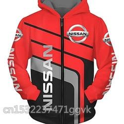 2020 nissan logotipo zíper moletom dos homens com capuz com zíper outono patrulha nissan offroad 4x4 y60 1 y61 camisolas jaqueta