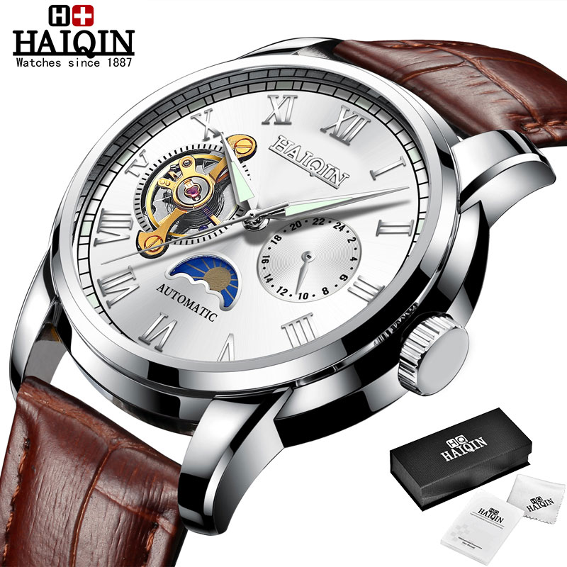 HAIQIN Mechanical watches mens automatic wrist watch for mens watches top brand luxury watch men Tourbillon relojes hombre 2020 17