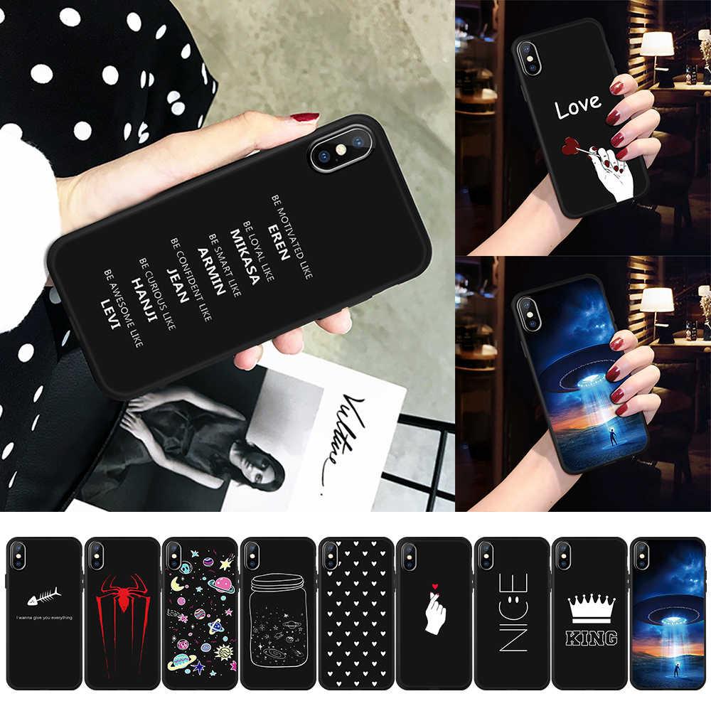 Silikonowe wzór etui na iphone 6 S 6 S 8 7 Plus X Xs Max XR XS miękkie etui z termoplastycznego poliuretanu dla iphone xs max Xr 8 7 PLUS list serce etui