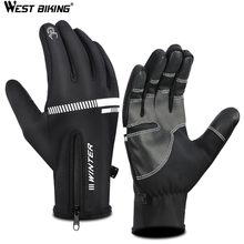 WEST BIKING Bike Cycling Bicycle Gloves For MTB Road Mountain Sport Gloves Bicycle Goods Cycling Bike Winter Velvet Shock Glove wheel up half finger cycling gloves gel bicycle bike racing sport mountain cycling glove breathable mtb road bike cycling gloves