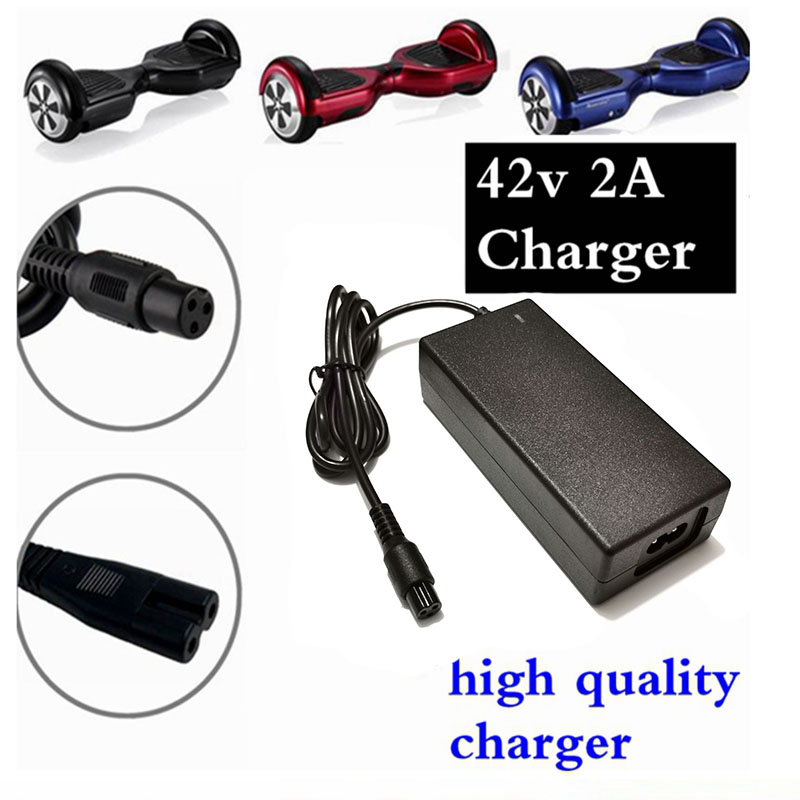 1PC lowest price 42V <font><b>2A</b></font> universal battery <font><b>charger</b></font> for Hoverboard smart balance <font><b>36V</b></font> electric scooter adapter chargerEU / US/AU/UK image