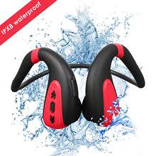 IPX8 Waterproof Earphones 2 in 1 8G MP3 Player & Bluetooth Wireless Neckband Bone Conduction Headset for Sports Swimming Diving(China)