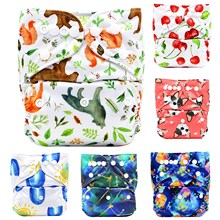 Asenappy Reusable and Washable One Size Fits All Cartoon Prints Baby Cloth Diaper More than Hundreds Prints