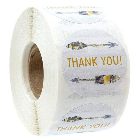 obrigado boemio da seta voce etiquetas redondas etiquetas do selo de 1 polegada scrapbooking para