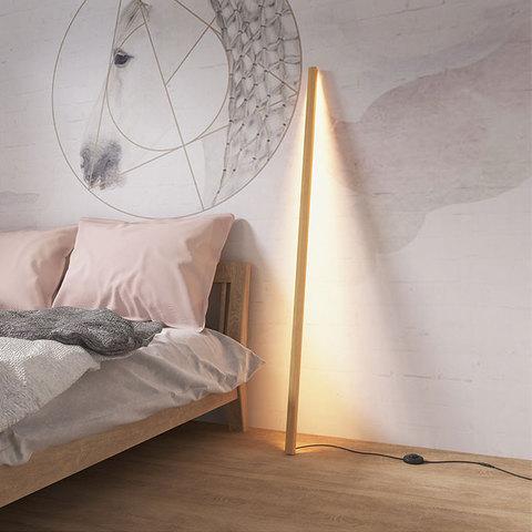 moderna madeira macica lampada pe casa simples vertical led luminarias