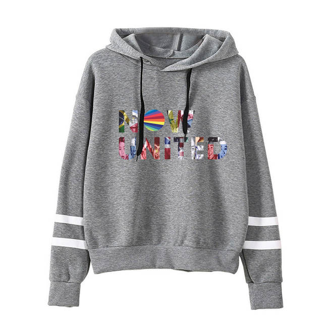 NOW UNITED STRIPED HOODIE