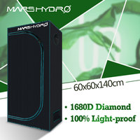 1680D Mars Hydro 60x60x140cm LED Grow Tent box Indoor Hydroponics garden Water proof hut Diamond Reflective Mylar grow room