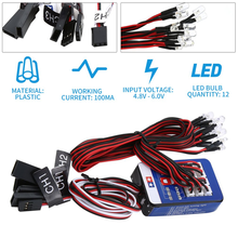 12 LED Lighting Kit Steering Brake Simulation Flash Light for 1/10 RC Car For Yokomo For Tamiya Exquisitely Designed(China)