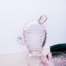 Контейнер из хрустального стекла поднос для мыла С КАКТУСОМ