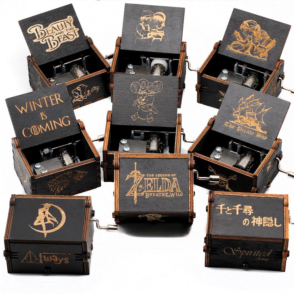 2020 New Black Spirited Away Game Of Thrones Music Box...