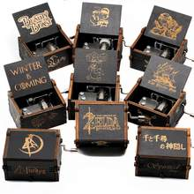 2020 New Black Spirited Away Game Of Thrones Musica Scatola di The Legend Of Zelda A Manovella di Music Box di Legno Festival regalo del ricordo(China)