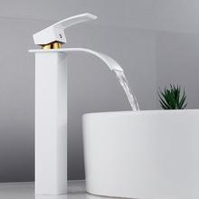 EVERSO Водопад Ванная раковина кран Палуба крепление горячей и холодной воды Смеситель кран полированный хром туалет раковина кран