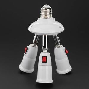 Image 1 - E27 ספליטר 3/4 ראשי מנורת בסיס מתכוונן LED אור הנורה מחזיק מתאם ממיר שקע אור הנורה