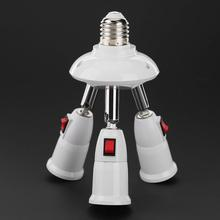 E27 Splitter 3/4 Heads Lamp Base Adjustable LED Light Bulb Holder Adapter Converter Socket Light Bulb Holder