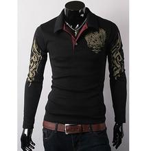 Wholesale 2020 Fashion Casual gentleman Men's long sleeve T-