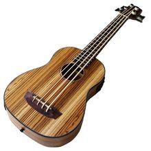 Links hand elektrische ukulele gitarre 30 zoll 4 string Volle Zebra holz körper kinder mini gitarre uk bass gitarre