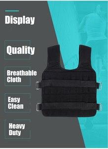 Image 5 - 30Kg Laden Gewicht Vest Voor Boksen Gewicht Training Workout Fitness Gym Apparatuur Verstelbare Vest Jacket Zand Kleding