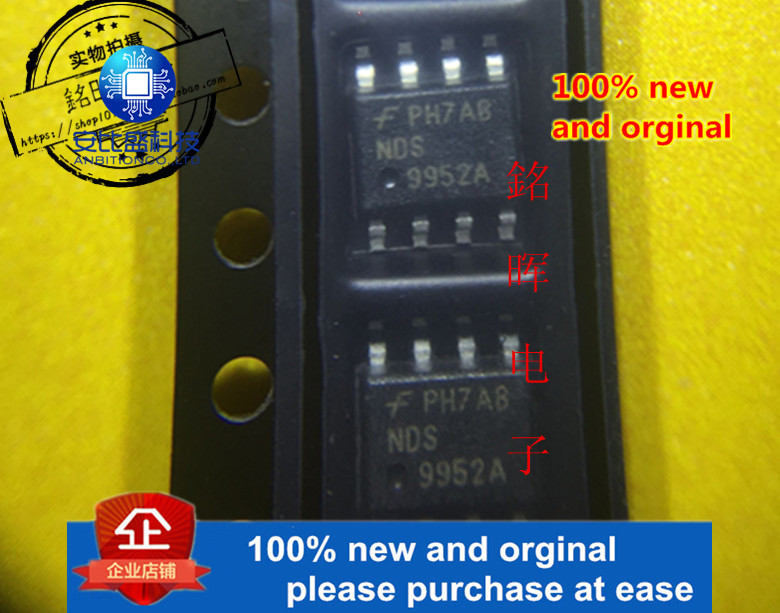 5pcs 100% New And Orgianl NDS9952A SOP-8 Dual N & P-Channel Enhancement Mode Field Effect Transistor Search Partnumber In S