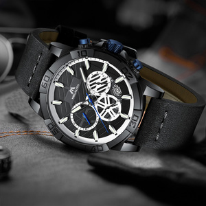 Image 3 - relogio masculino MEGALITH sport waterproof watch men top brand luxury luminous chronograph watches for men leather strap clock