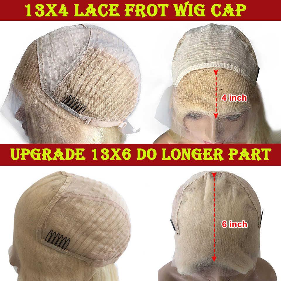 Lange Rechte #613 Blonde Kant Voor Pruik Braziliaanse Remy 13X6 Lace Front Menselijk Haar Pruiken Voor Vrouwen 8-26Inch Blonde Menselijk Haar Pruik