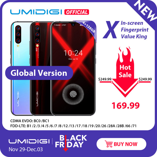 Global Version UMIDIGI X In-screen Fingerprint 6.35