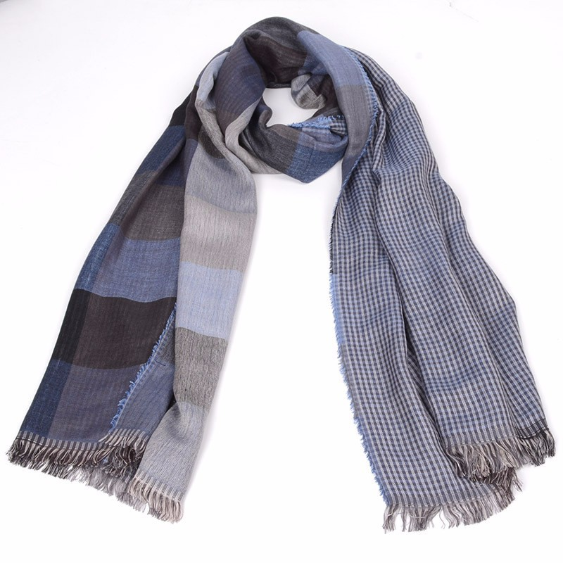 2019 Men Scarf Plaid Yarn-dyed Scarf Autumn And Winter Double-sided Tassel Men's Scarf Spot AC010