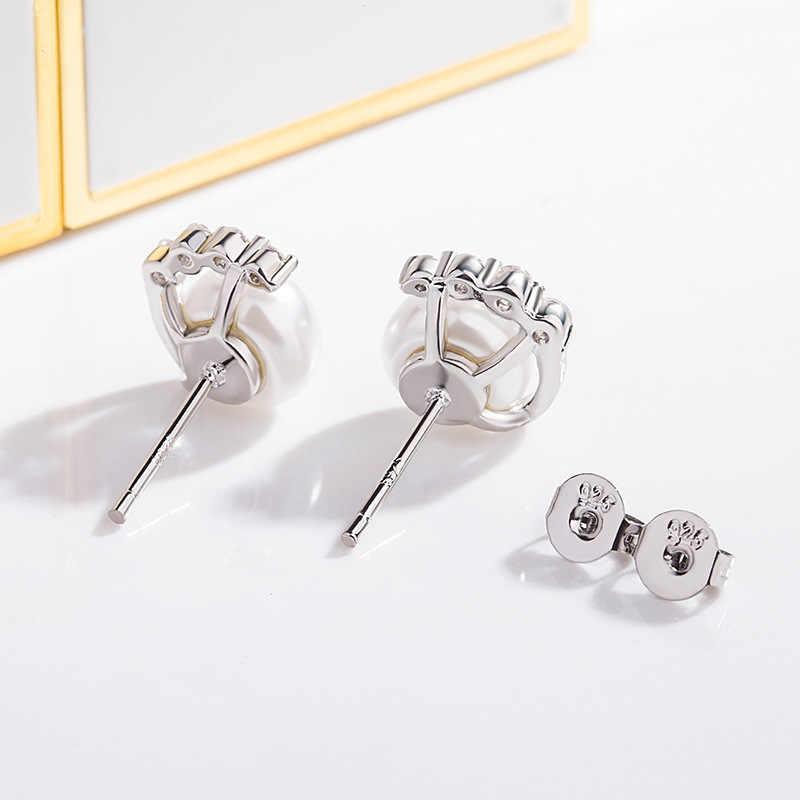 Bague Ringen Temperamento Orecchini di Perle per Le Donne Minimalista Alla Moda Argento 925 Gioielleria Raffinata Femminile Matrimoni Ear Studs REGALO