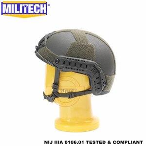 Image 3 - MILITECH balistycznych kask szybkie OD typu Deluxe robak Dial poziom NIJ IIIA 3A wysokie cięcie Twaron kuloodporne kask z 5 lat gwarancji