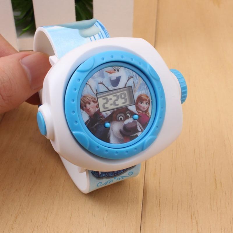 Princess Elsa Kids LED Digital Watches Cartoon Projection Children Watch For Boys Girls Child Electronic Clock Montre Enfant