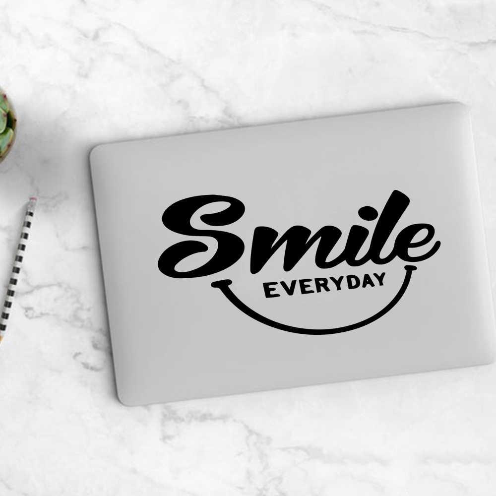 สติกเกอร์แล็ปท็อป SMILE ทุกวันสติกเกอร์ไวนิลแล็ปท็อปสติกเกอร์สำหรับ Xiaomi/HP/DELL/Asus/แล็ปท็อปตกแต่งผิว